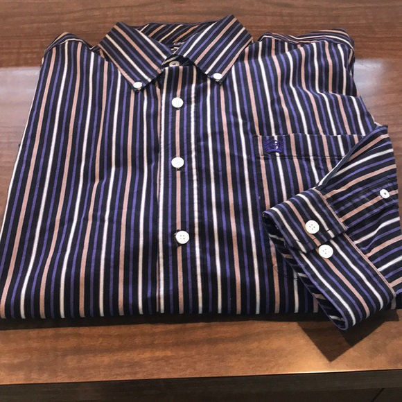 Cinch Shirt Large Button Down Large Stripped NWOT
